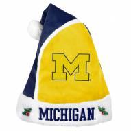 Michigan Wolverines Santa Hat