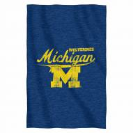 Michigan Wolverines Script Sweatshirt Throw Blanket