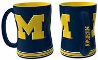 Michigan Wolverines Sculpted Relief Coffee Mug