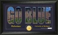 Michigan Wolverines Silhouette Bronze Coin Panoramic Photo Mint