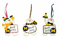 Michigan Wolverines Snowman with Sign Ornament