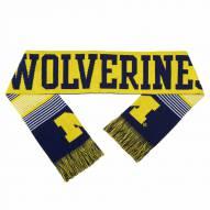 Michigan Wolverines Split Logo Reverse Scarf