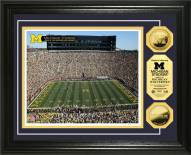 Michigan Wolverines Stadium 24KT Gold Coin Photomint
