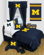 Michigan Wolverines Jersey Comforter & Sheet Complete Bedding Set