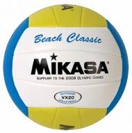 Mikasa VX20 Classic Replica Game Beach Volleyball - Yellow/White/Blue