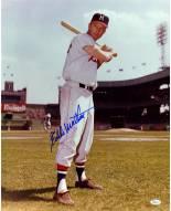"Milwaukee Braves Eddie Mathews Standing with Bat Signed 16"" x 20"" Photo"
