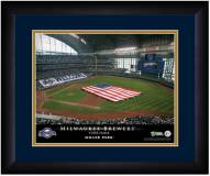 Milwaukee Brewers 13 x 16 Personalized Framed Stadium Print