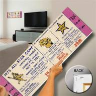 Milwaukee Brewers 1975 All Star Game Mega Ticket Canvas Art