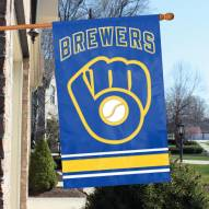 Milwaukee Brewers Appliqué 2-Sided Banner Flag