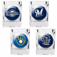 Milwaukee Brewers Collector's Shot Glass Set
