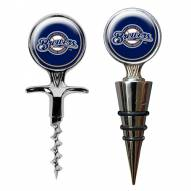 Milwaukee Brewers Cork Screw & Wine Bottle Topper Set