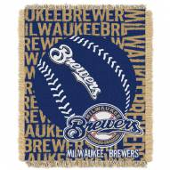 Milwaukee Brewers Double Play Jacquard Throw Blanket