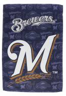 Milwaukee Brewers Double Sided Glitter Garden Flag