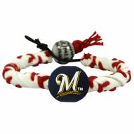 Milwaukee Brewers Frozen Rope Baseball Bracelet
