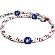 Milwaukee Brewers Frozen Rope Baseball Necklace