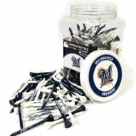 Milwaukee Brewers 175 Golf Tee Jar