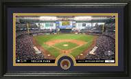 Milwaukee Brewers Infield Dirt Coin Panoramic Photo Mint