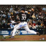 "Milwaukee Brewers Jeff Suppan Brewers Side View Pitching Signed 16"" x 20"" Photo"