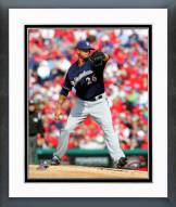 Milwaukee Brewers Kyle Lohse 2014 Action Framed Photo