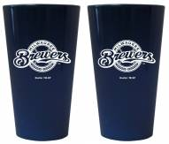 Milwaukee Brewers Lusterware Pint Glass - Set of 2