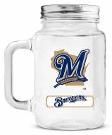 Milwaukee Brewers Mason Glass Jar