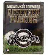 Milwaukee Brewers Metal Parking Sign