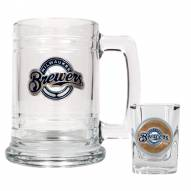 Milwaukee Brewers MLB Boilermaker Set - Shot Glass & Tankard Mug