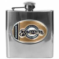 Milwaukee Brewers MLB 6 Oz. Stainless Steel Hip Flask
