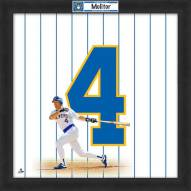 Milwaukee Brewers Paul Molitor Uniframe Framed Jersey Photo