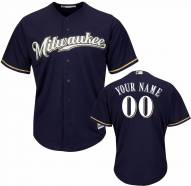 Milwaukee Brewers Personalized Replica Navy Baseball Jersey