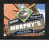 Milwaukee Brewers Personalized Framed Sports Pub Print