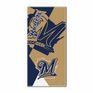 Milwaukee Brewers Puzzle Beach Towel