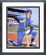 Milwaukee Brewers Robin Yount Posed Kneeling Framed Photo