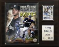 "Milwaukee Brewers Ryan Braun 2011 MVP 12"" x 15"" Player Plaque"