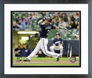 Milwaukee Brewers Scooter Gennett 2014 Action Framed Photo