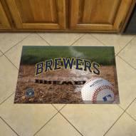 Milwaukee Brewers Scraper Door Mat
