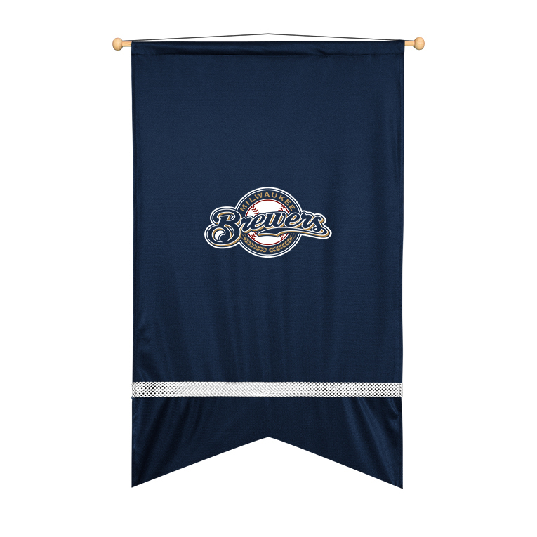 Milwaukee Brewers Sidelines Wall Flag