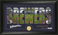 Milwaukee Brewers Silhouette Bronze Coin Panoramic Photo Mint