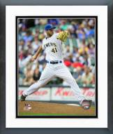 Milwaukee Brewers Taylor Jungmann 2015 Action Framed Photo