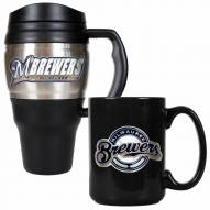 Milwaukee Brewers Travel Mug & Coffee Mug Set