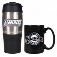 Milwaukee Brewers Travel Tumbler & Coffee Mug Set