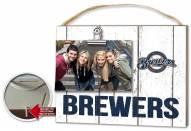 Milwaukee Brewers Weathered Logo Photo Frame
