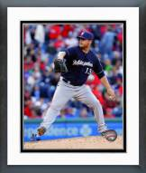 Milwaukee Brewers Will Smith 2014 Action Framed Photo