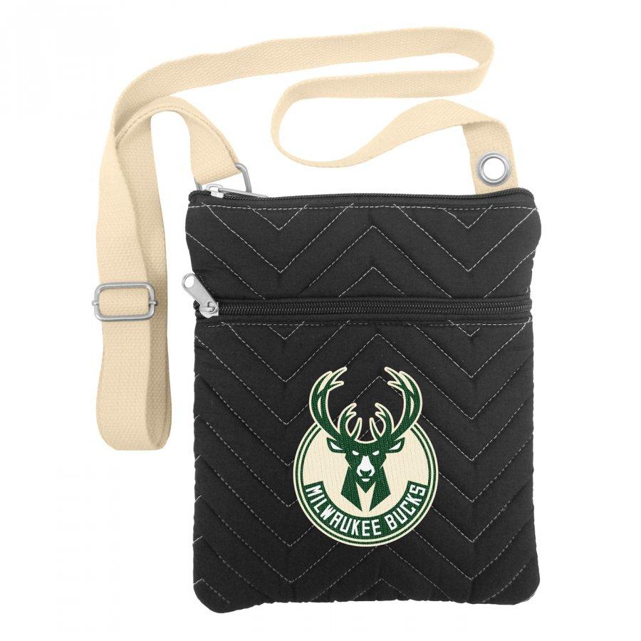Milwaukee Bucks Chevron Stitch Crossbody Bag
