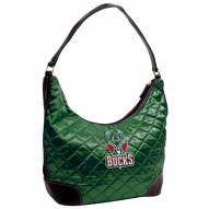 Milwaukee Bucks Quilted Hobo Handbag
