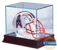 Glass Mini Football Helmet Display Case