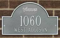 Minnesota Vikings NFL Personalized Address Plaque - Pewter Silver