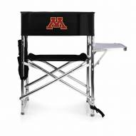 Minnesota Golden Gophers Black Sports Folding Chair