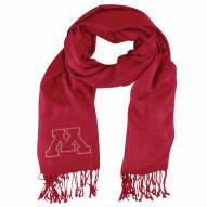 Minnesota Golden Gophers Dark Red Pashi Fan Scarf