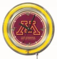 Minnesota Golden Gophers Neon Clock
